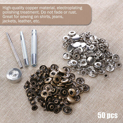 Leather Rivets Double Cap Rivets Metal Fixing Tool Kit For Leather Craft