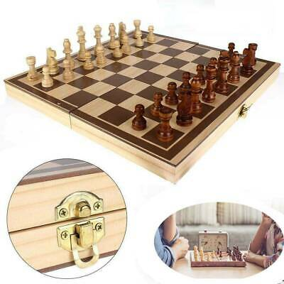 Folding Wooden Chess Set High Quality Standard Chess Set Chessboard 30x30CM