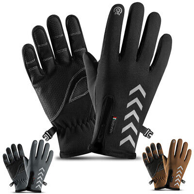 Winter Bicycle Gloves Thermal Reflective Nylon Cycling Accessories Bike