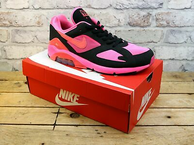 Mens Nike X Comme Des Garcons Air Max 180 Pink Mesh Trainers Uk Size 10 Rrp £203