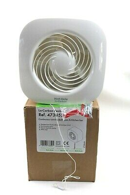 Vent Axia Lo-Carbon Revive Continuous Running Bathroom Kitchen Fan 473852