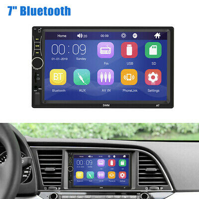 "7"" Touch Screen 2DIN HD MP5 bluetooth Car Stereo Radio  IOS/Android Mirror Link"