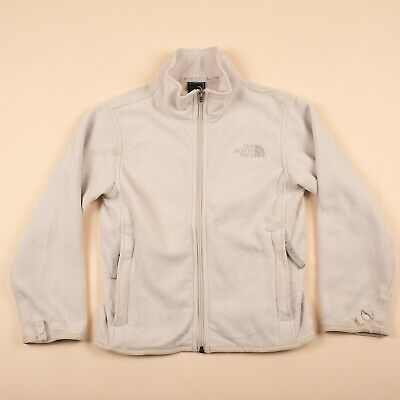 Vintage THE NORTH FACE White Zip Outdoor Fleece GIRLS SMALL R7032