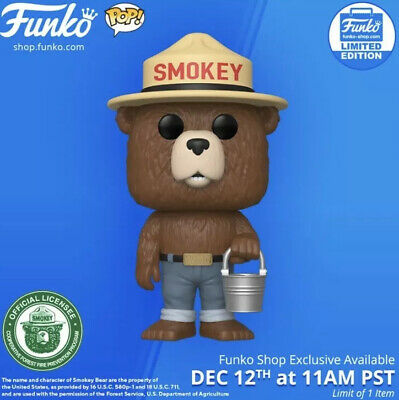 Funko Pop! Ad Icons: SMOKEY THE BEAR With Bucket Funko Shop Exclusive PREORDER!