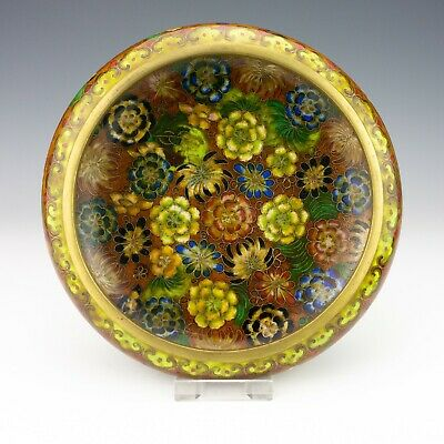 Vintage Chinese Cloisonne - Oriental Thousand Flowers Bowl - Lovely!
