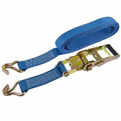 Ratchet Strap Trailer Tie Down 5m Handle Hooks Recovery 2.5 Ton Lashing SM004