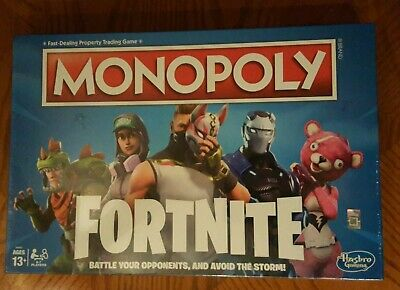 Monopoly Fortnite Edition Board Game Survival Mode Sealed Free Shipping