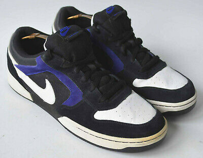 Men's Blue & Black Suede Leather Nike Renzo Trainers size UK 11.