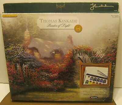 2004 ROSE ART Thomas Kinkade GLORY OF MORNING Paint By Number Set COMPLETE!!