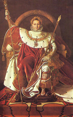 """oil painting handpainted on canvas""""  Napoleon on his Imperial throne """"@N11087"""