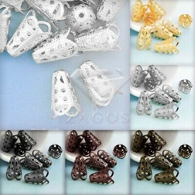 20g DIY Crimp End Spacer Perles Bouchons Charm Findings Caps Bijoux 17x12x12mm