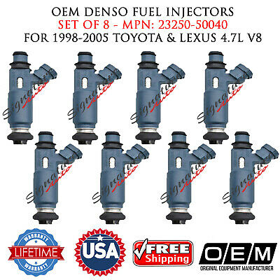 98-05 Toyota-Lexus 4.7 V8-8 Denso 23250-50040 *Brand New* Fuel Injector Set