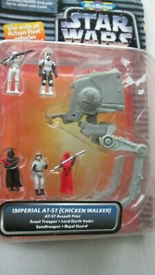 NIP Star Wars Micro Machines Action Fleet-Imperial AT-ST-Chicken Walker/Troopers