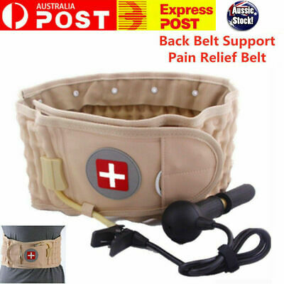 Lumbar Decompression Waist Physio Back Belt Spinal Pain Relief Brace Support New