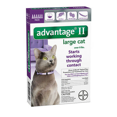 Advantage II for Cats Over 9 lbs - 6 Pack - EPA Approved / FREE Shipping!