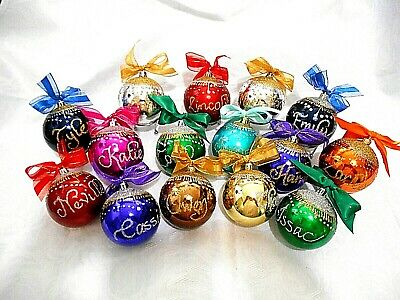 Personalised Christmas baubles 8cm  cheapest on ebay, reduced to clear