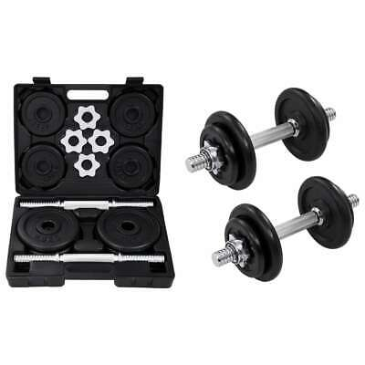 15/20KG Adjustable Cast Iron Dumbbell / Barbell Set For Weight Lifting Training