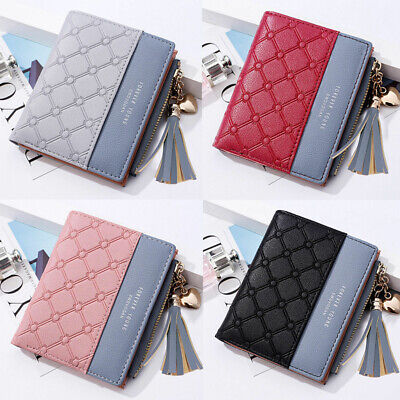 Women Short Small Money Purse Wallet Ladies Leather Folding Coin Card Holder WT