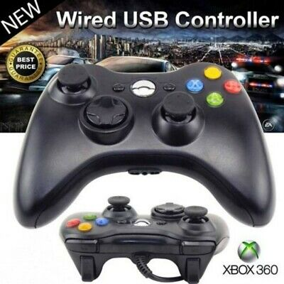 New Sealed White/Black Wired Controller for-Xbox 360 Console USB Windows / PC