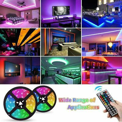 5050 RGB LED STRIP LIGHTS COLOUR CHANGING TAPE UNDER CABINET KITCHEN IP65 Gift