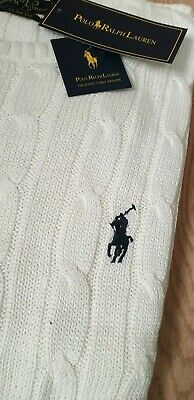 Polo Ralph Lauren cable knit jumper crew neck sweater pullover jumper  L