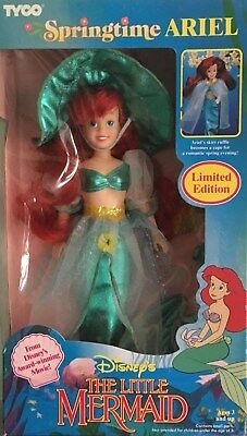 New Disney Little Mermaid Tyco Springtime Princes Ariel Barbie Style Doll Set