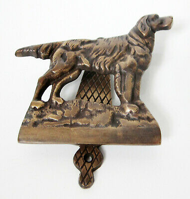 SOLD BRASS IRISH GORDON ENGLISH SETTER DOG DOOR KNOCKER 13 cm wide new