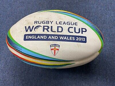 2013 World Cup England rugby league signed match ball