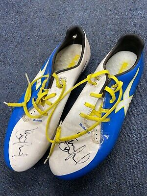 England Captain Kevin Sinfields 2013 RL World Cup mach worn boots
