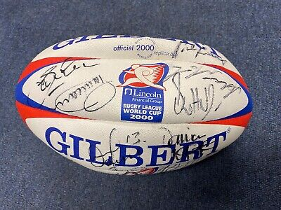 Rugby League 2000 World Cup signed replica ball by England