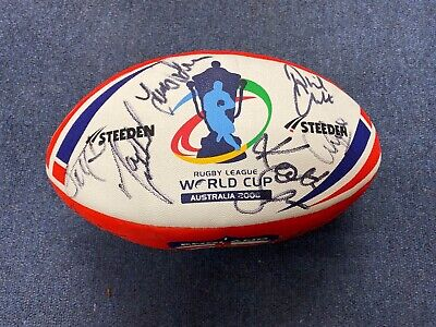 2008 Rugby League World Cup Repro Ball signed by England