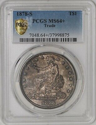 1878-S Trade Dollar $ MS64+ Secure Plus PCGS 939658-2