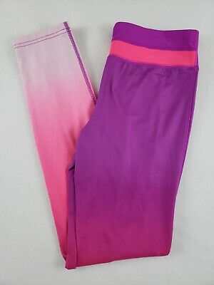 Champion Girls Ombre Purple/Pink Duo Dry Activewear Leggings Size XL 14-16