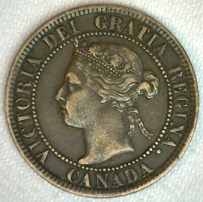1894 Canada One Cent 1c Coin Bronze Extra Fine
