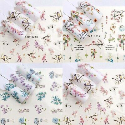 Art Sheets Flower 3D Nail Stickers Manicure Decoration  Decals 1  Tips Transfer
