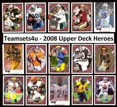 2008 Upper Deck Heroes Football Set * Pick Your Player *Checklist in Description