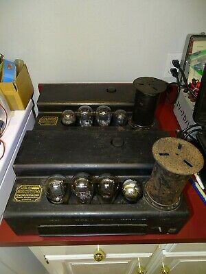 Pair, RCA AP-951 Tube Amplifiers, 210 Outputs, 1920s, Radiola