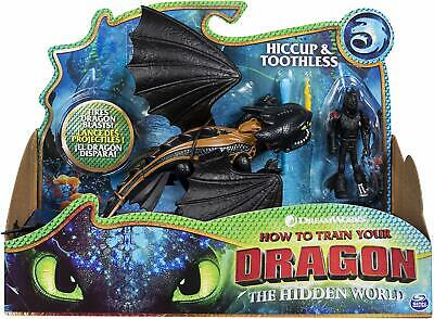 Hiccup and Toothless How to Train your Dragon The Hidden World New in Box