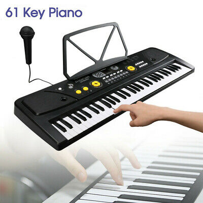 61 Keys Music Electronic Keyboard Electric Digital Piano Organ with Stand & Mic