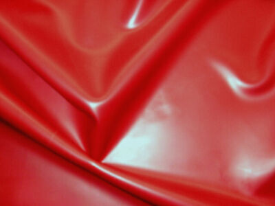 92cm Wide,Vibrant Bright Red Latex Rubber 0.33mm Thick