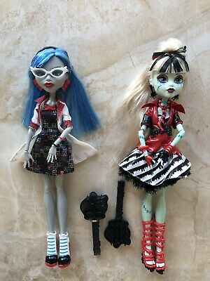Monster High Dolls x 2...Fully Dressed With Shoes & Brushes...LIKE NEW