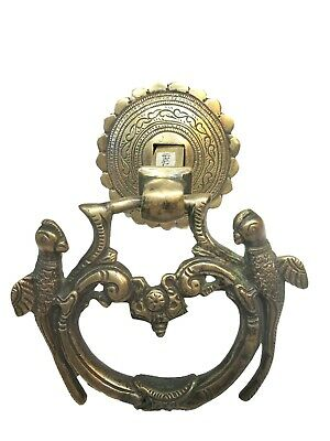 Antique Unique Beautiful Engraved Solid Brass Style Door Knocker Decor #TSH330