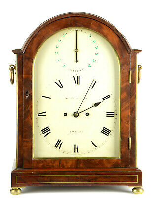 British George III fusee bracket clock repetition Henry Russel London c. 1800