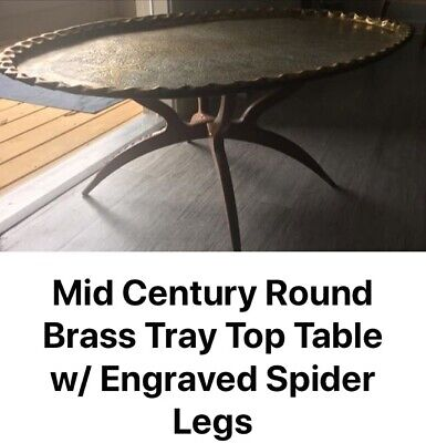 Mid century Moraccan Brass tray Table