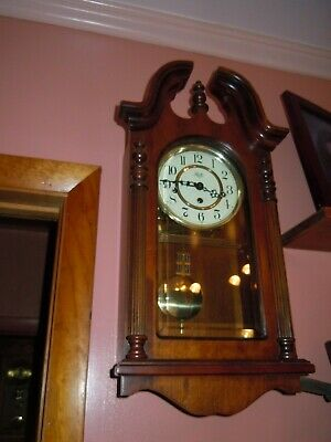Sligh Wall Clock Westminster Chimes Made By Chicago Clock Co.21H/12W/6D Inches