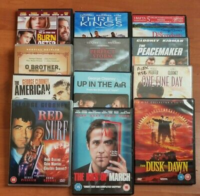 6 x George Clooney's Movies The Descendants, The American, Up in the Air DVD