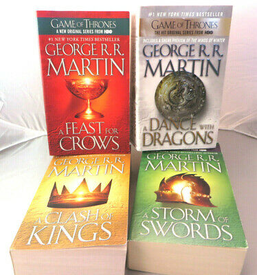 Game of Thrones Books  2 3 4 5; Paperback lot George R.R. Martin