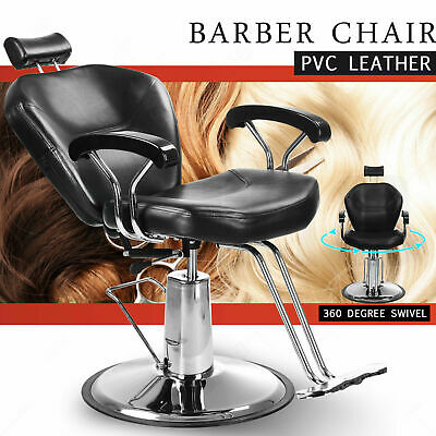 Reclining amazing Leather Barbershop Chair Salon  Hairdressing Salon luxurious