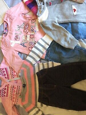 Girls Clothes Bundle 1-1.5 Years 9 Items Gap Boots Miniclub George BHS Fisher pr