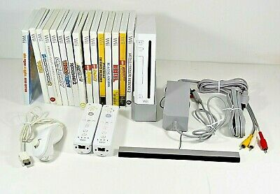 Nintendo White Wii Console Complete Bundle with 15 Games RVL-001 Need For Speed